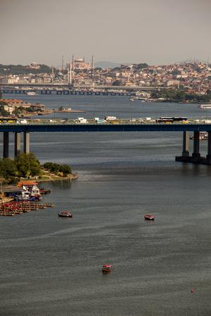 Eyup bridge in Golden horn in the view, Istanbul, Turkey
