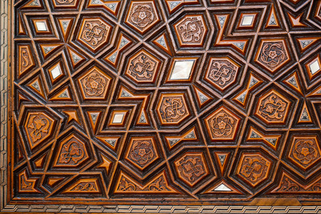 Fine example of Ottoman art patterns in view Stock Photo