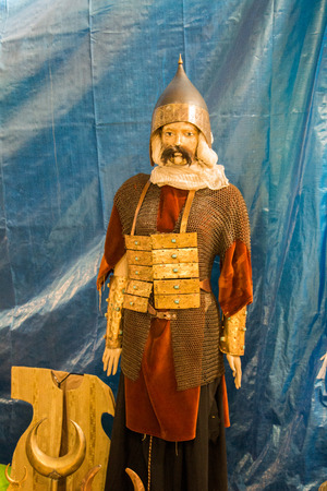 Ottoman style armor on human figure in the view