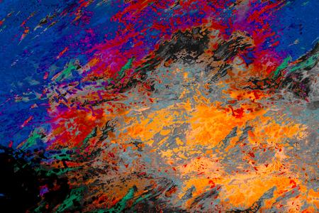Motifs abstraits d'art marbré Banque d'images