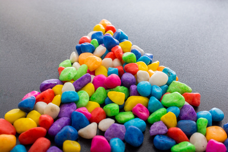 Pile of little colorful pebbles as stone
