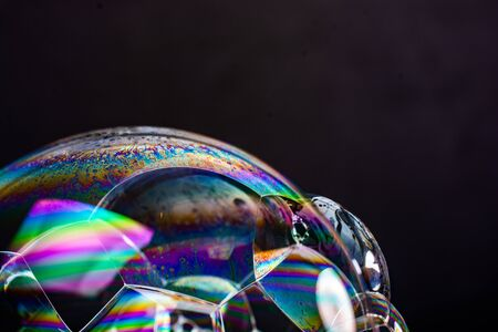 Air bubbles inside water base form patterns 版權商用圖片