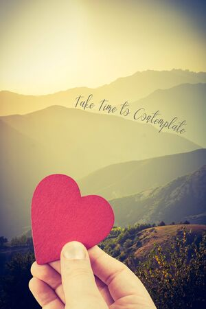 Heart and take time to contemplate wording on landscape