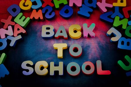 Back to school and Colorful Letters of Alphabet