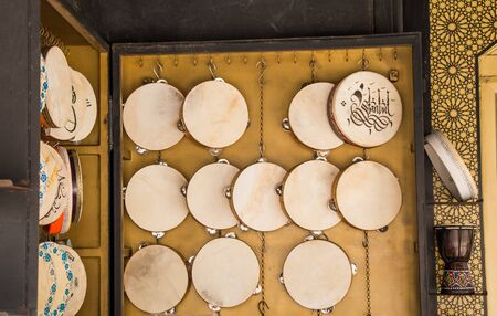 Traditional Turkish tambourine or drums as   Music instrruments