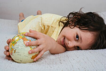 Earth globe in hands as Environment and save planet  concept Reklamní fotografie