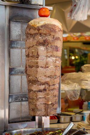 Traditional Turkish food Doner Kebab Shawarma meat