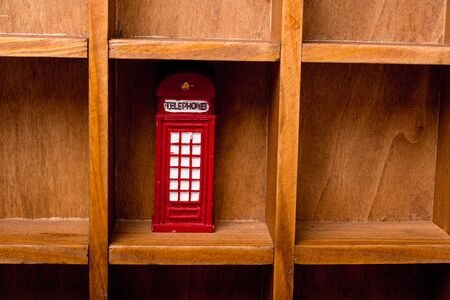 Classical British style Red phone booth of London Reklamní fotografie