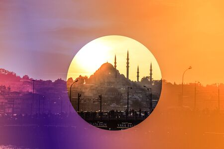 Istanbul city skyline. Imagens - 128596542