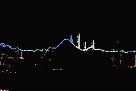 Istanbul city skyline.