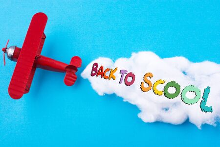 Back to school wording as educational concept Stock Photo