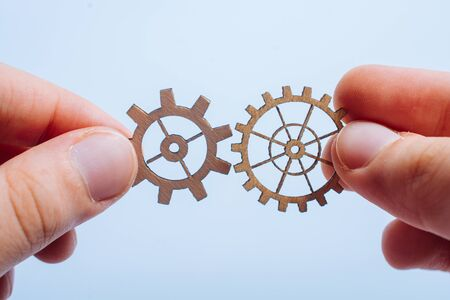 The concept of business processes and ideas with gear wheels