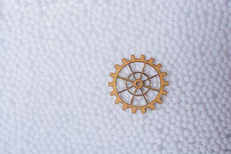 Gear wheel as The concept of mechanism 版權商用圖片