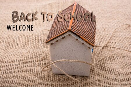 Back to school wording as education, teaching and learning concept Archivio Fotografico - 129435149