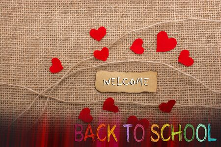 Back to school wording as education, teaching and learning concept Stock Photo - 129435345