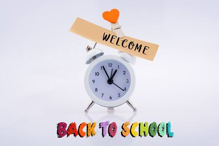 Back to school wording as education, teaching and learning concept Stock Photo