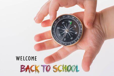 Redacción de regreso a la escuela como concepto de educación, enseñanza y aprendizaje