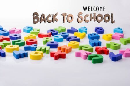 Back to school wording as education, teaching and learning concept Imagens