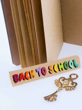 Back to school wording as education, teaching and learning concept Stok Fotoğraf - 129486844