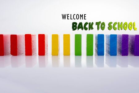 Back to school wording as education, teaching and learning concept Stockfoto