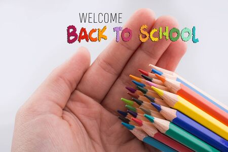 Back to school wording as education, teaching and learning concept Stok Fotoğraf - 129487565