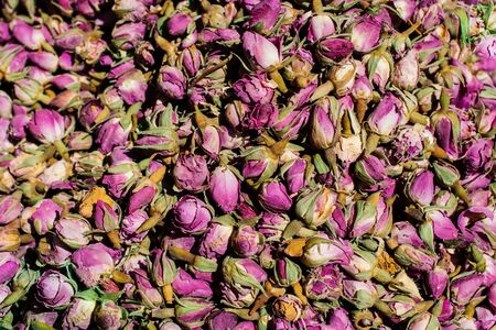Dried rose buds as herbal tea Stok Fotoğraf