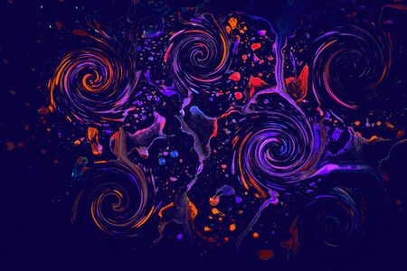 Paint splash effect on a glass on a black 写真素材