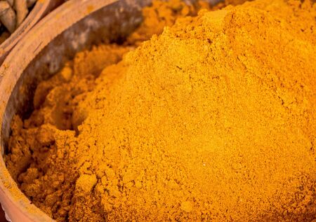 Variety of spices and herbs as Colorful spice