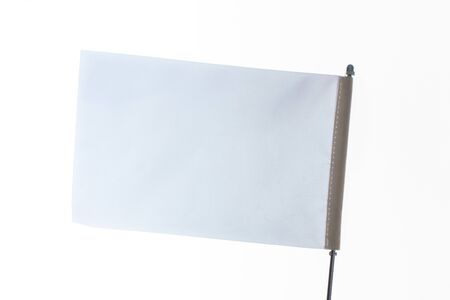 White flag on a white background in the  display