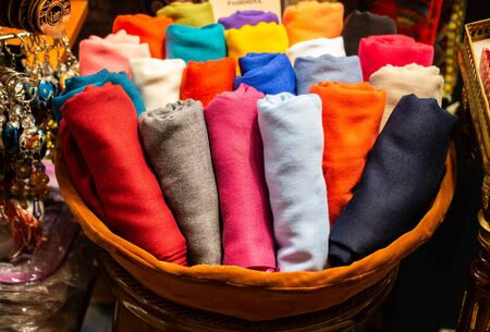 Examples of colorful fabric of various color and type