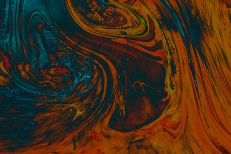 Traditional Ottoman Turkish abstract marbling art patterns as background Stockfoto