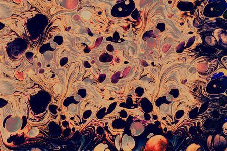 Traditional Ottoman Turkish abstract marbling art patterns as background 写真素材