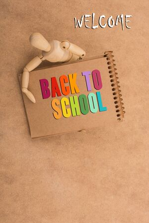 Back to school wording as education, teaching and learning concept Reklamní fotografie