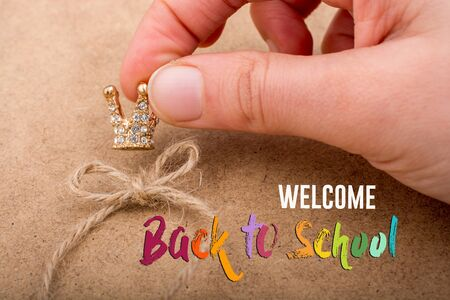Back to school wording as educational concept