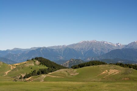 Forested mountains in a scenic landscape view from Artvin highlands