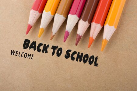Back to school wording as education, teaching and learning concept Фото со стока