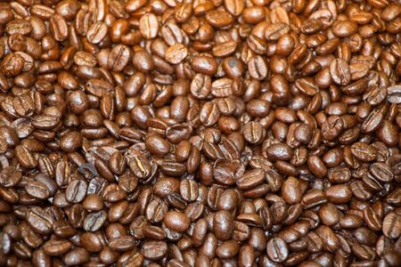 Coffee beans texture or coffee beans background.