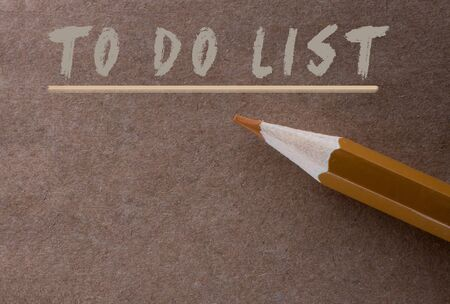 Pencil and To do list label   on a note paper Stock Photo - 138199458