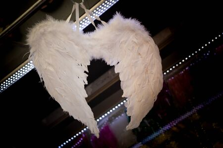 White Guardian Angel Wings with  feathers for decorative aims
