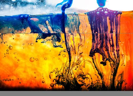 Abstract background from dense paint dissolve in water