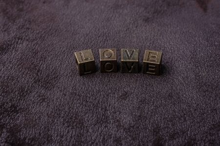 The word love with grunge metal letters love concept 版權商用圖片