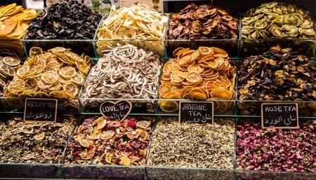 Various  dried Fruit as snacks in a Bazaar