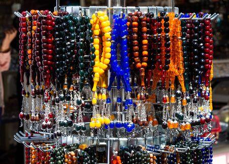 Set of Rosary praying beads for practicing mindfulness meditation Banco de Imagens