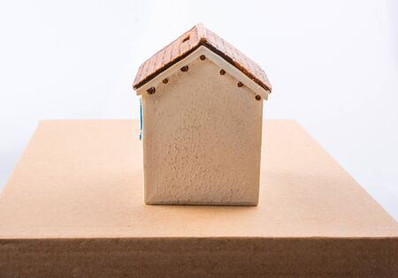 Little model house in the view