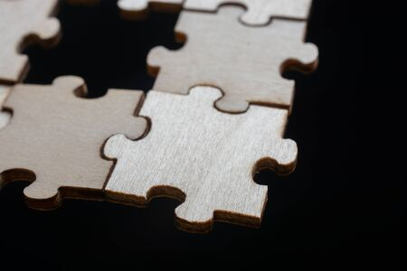 Piece of jigsaw puzzle as business strategy problem solving concept Banco de Imagens