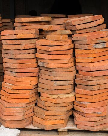 Load of bricks in stock for construction purpose