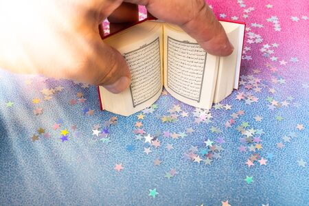 Islamic Holy Book Quran  mini size decorated with stars