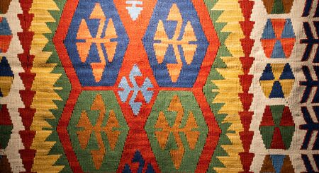 Traditional Turkish hand made carpet and rugs Banco de Imagens