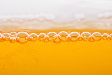 Oxygen bubbles in liquid underwater as macro natural background