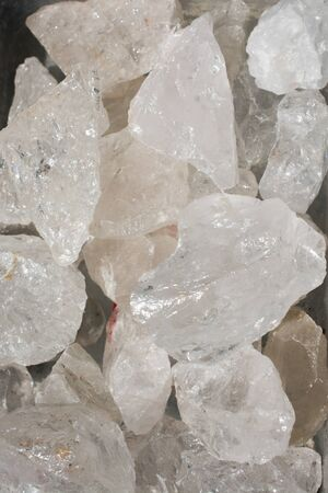crystal quartz gem stone as natural mineral rock specimen